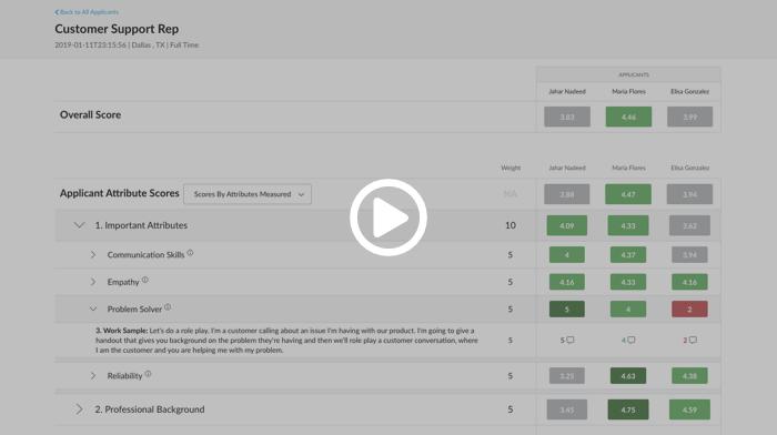 Journeyfront Applicant Scorecard - Multi-compare