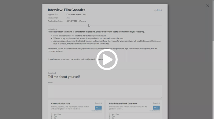 Journeyfront interview guide product demo video